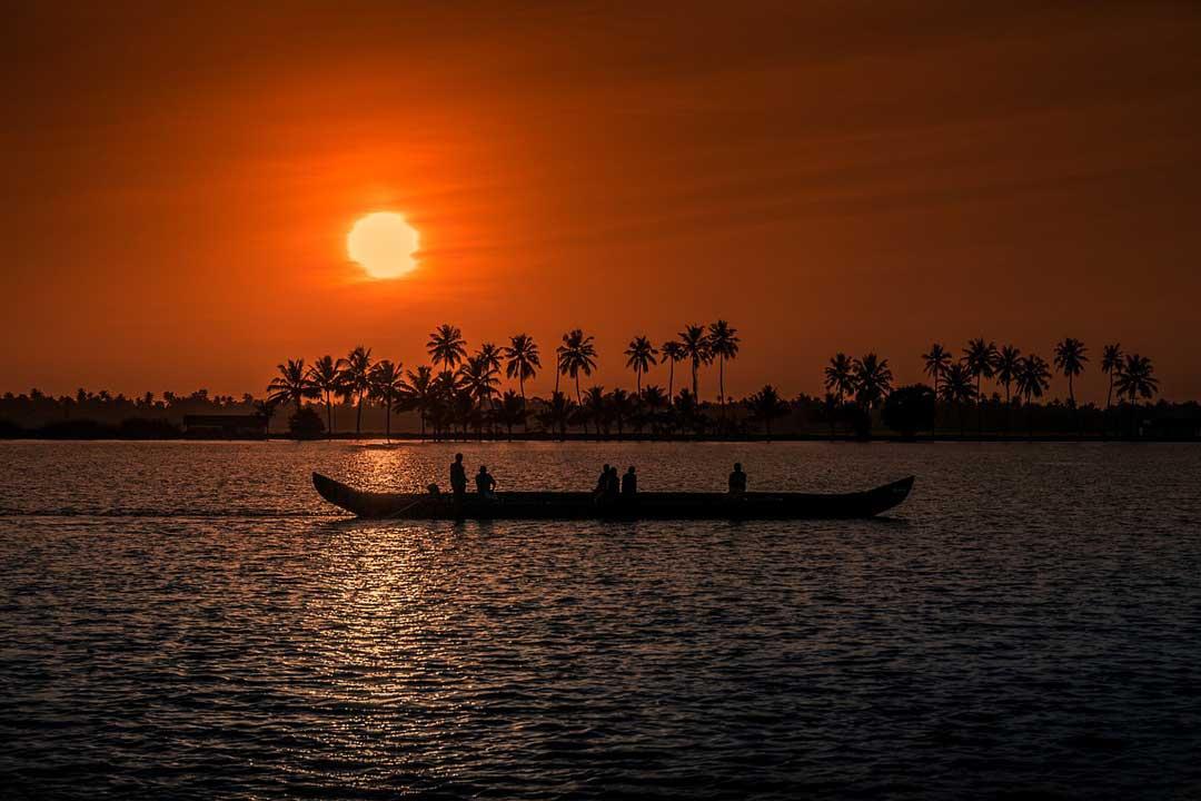 Kerala atardecer