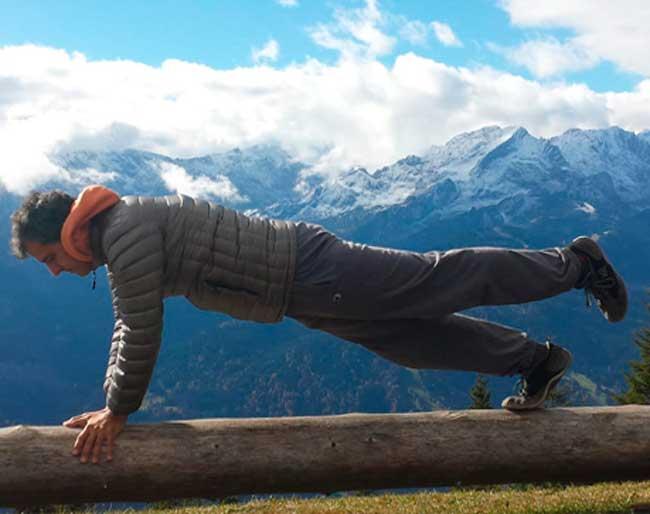 Yoga en los Alpes