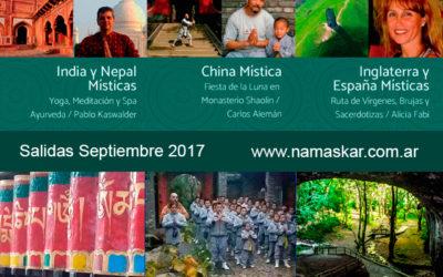 Viajes Espirituales 2017: India, Nepal, China, España e Inglaterra Místicas